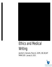 Ethics and Medical Writing