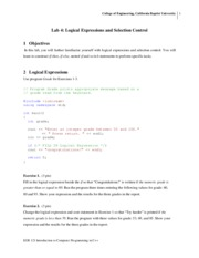 lab4_SP13 - Logical Expressions and Selection Control - EGR 121