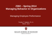 Chapter 7 - Managing Employee Performance - SP 20142
