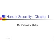 Human Sexuality Chapter 1