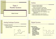 Topic 1 Number Systems