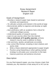 110 Research Paper Guidelines