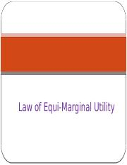 equi marginal utility definition
