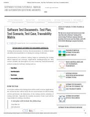 Software Test Documents - Test Plan, Test Scenario, Test Case, Traceability Matrix.pdf