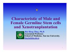 161115Chapter 8. Characteristic of Male and Female Germline Stem cells and Xenotranplantation
