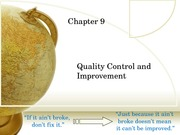 Quality Control and Improvement-Part2