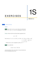 Answers to 1S Exercises from Week 2 (All Solutions)