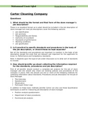 Carter Cleaning Company Umair.docx