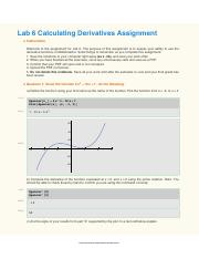 Lab 6 Calculating Derivatives Assignment.pdf