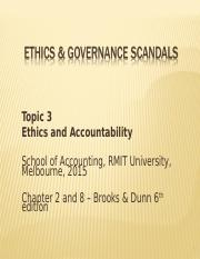 Ethical Issues - Notes - Topic 3- Ethics & Governance Scandals.ppt