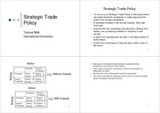 Strategic Trade Policy V.Tutor