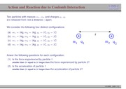 29. Action and Reaction due to Coulomb Interaction