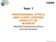 MAA350 - 2015 T2 Lecture Notes Topic 7 Prof ethics and COL