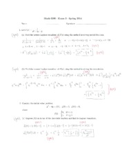 Exam 2 solutions (Math 0290)