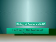 Lecture 2 - The Nature of Disease-2