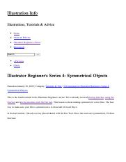 Illustrator Beginner's Series 4_ Symmetrical Objects « Illustration Info