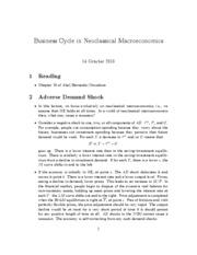 9. business cycle in neoclassical macroeconomics