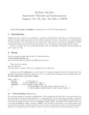 ECE454 Fall Official Homework IV 2014