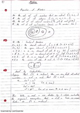 Properties of Numbers Introduction to Algebra Lecture Notes