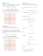 Homework 1 Solution Winter 2008 on Ordinary Differential Equations