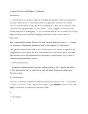 Aspects of Contract and Negligence for Business 6.docx