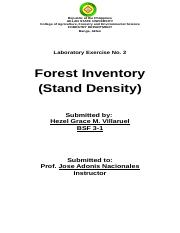 Laboratory Exercise in Forest management