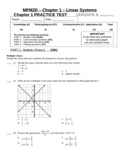 Chapter 1 - Practice Test with answer Key