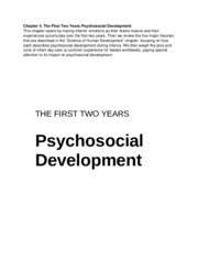 Chapter 4 The First Two Years Psychosocial Development