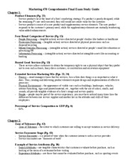 Marketing 470 Comprehensive Final Exam Study Guide