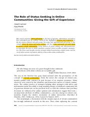 highlight.(S6)The Role of Status Seeking in Online community.pdf