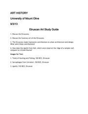 Etruscan Art Study Guide