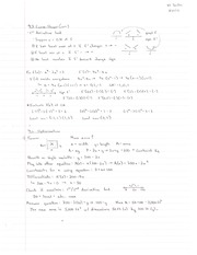 Calculus Curve Shapes Homework and Answers