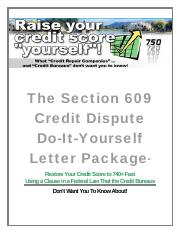 instructions section609creditdisputeletterpkg the section 609 credit dispute do it yourself