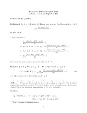 lecture11 - Differentiability