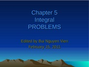 Problems of Chapter5 - Integral