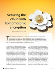 Securing the Cloud with Homomorphic Encryption