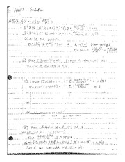 Homework 2 Solutions math 494