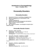 Psy103-Personality Disorders