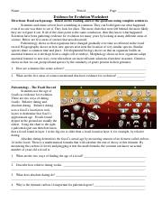 worksheet-evidence-and-mechanisms-of-evolution-final.pdf ...