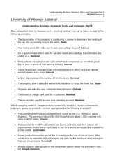 RES-351 Understanding Business Research Terms and Concepts Part 3- Wk 5