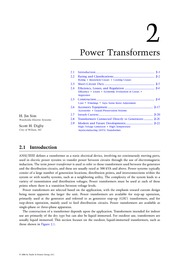 Chapter 2. Power Transformers