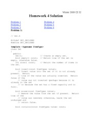 CS 32 Solution Homework 4