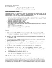 Conference sheet with answers - Chapter 27 - Money and banking