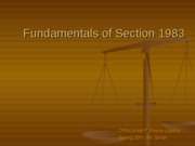Fundamentals of Section 1983