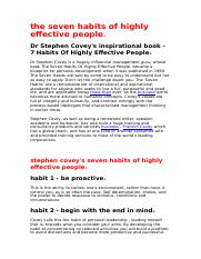 the seven habits of highly effective people.doc