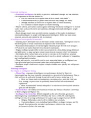 Psych 572 Notes on Emotional Intelligence
