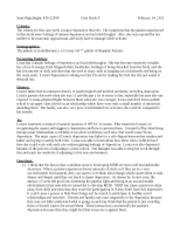 Case study of a schizophrenia