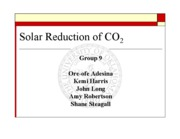 SOLAR REDUCTION OF CO2-POWERPOINT