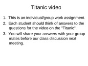 Titanic video - decision making