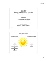 Lecture16 Photovoltaic Modules for Energy Infrastructual system